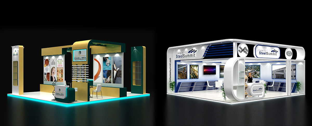 Exhibition Stand Design 3d Max : Visualize d exhibition stall designs innovative d stall design